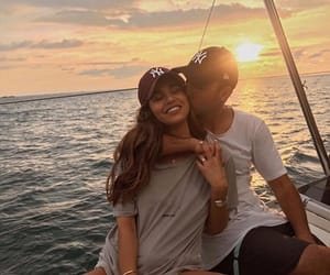 couple, happiness, and kiss image