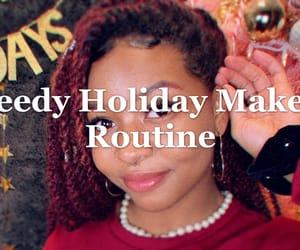 article, black girl, and christmas image