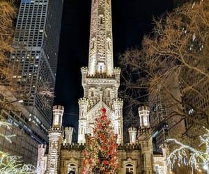 chicago, christmas, and city image