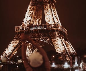 city, eiffel, and girl image