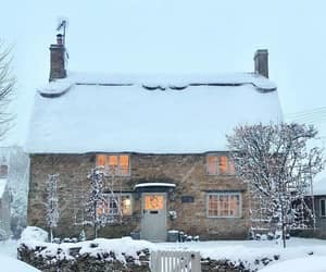 december, house, and snow image