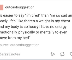 depressed, depression, and feelings image