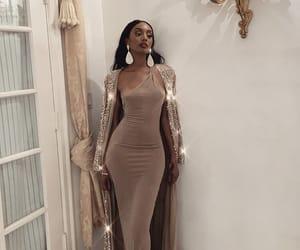 brown, coat, and dress image