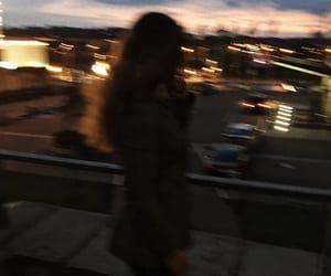 blurry, city, and dark image