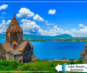 armenia, lake, and travel image
