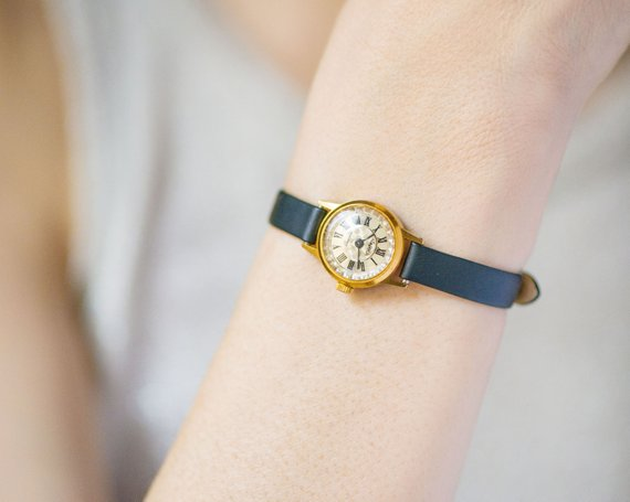 etsy, anniversary gift, and vintage wristwatch image