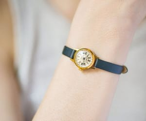 etsy, gold plated watch, and vintage wristwatch image