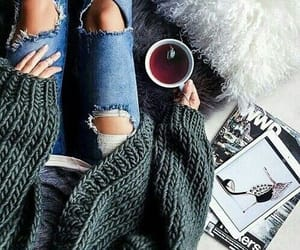 chill, jeans, and tea image