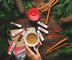 candle, chocholate, and Christmas time image