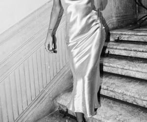 fashion, dress, and black and white image