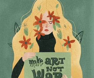 art, artwork, and hippie image