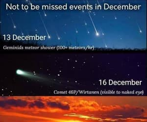 december, sky, and stars image