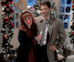 supernatural, ruth connell, and misha collins image