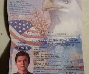 Marvel, passport, and spiderman image