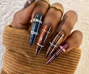 plaid, nailart, and nail ideas image