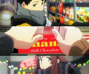 anime, anime girl, and chocolate image