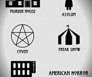 asylum, freak show, and murder house image