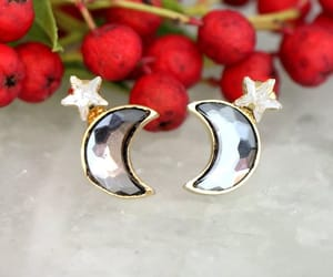 etsy, christmas gift, and crescent earrings image
