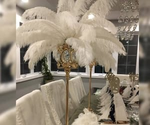 bridal, roaring 20's, and centerpieces image