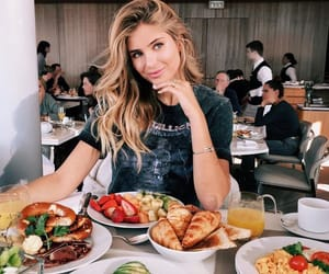 girl, food, and blonde image
