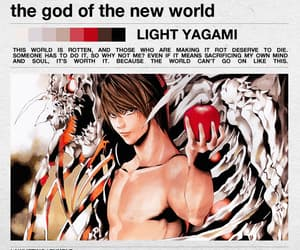 anime, death note, and god image