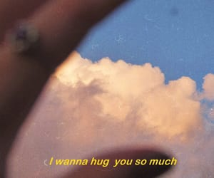 quotes, hug, and clouds image