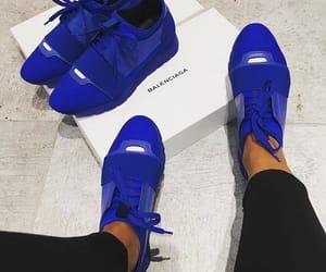 Balenciaga, blue, and shoes image