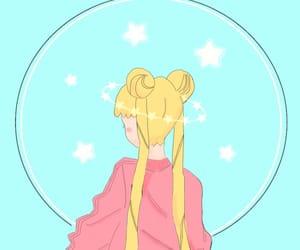 anime, edit, and moon image