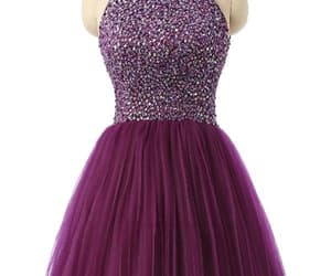 purple prom dress and prom dress short image