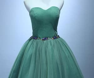 a-line homecoming dress, lace homecoming dress, and green homecoming dress image