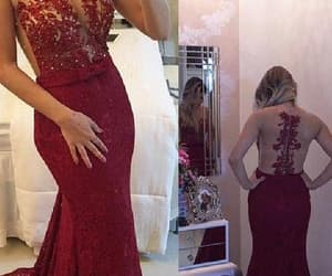 sexy prom dress, evening dress long, and prom dress lace image