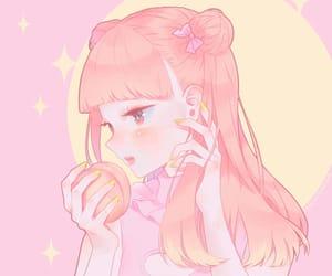 anime, kawaii, and peach image