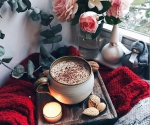 candle, coffee, and cozy image
