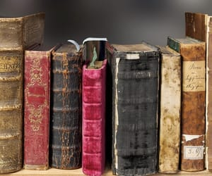 books, vintage, and old books image