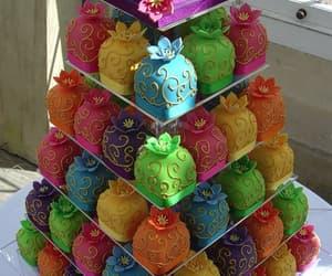 cake, colorful, and cupcake image