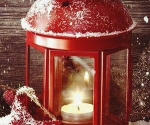 candle, holiday, and lamp image