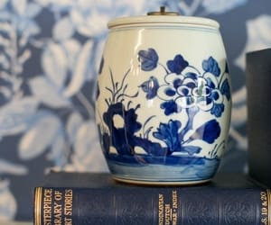 blue, books, and jar image