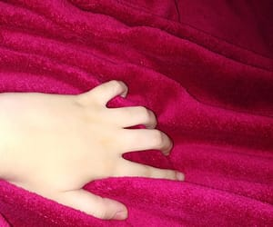 fabrics, touching, and hands image