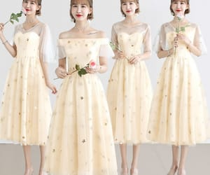 girl, bridesmaid dress, and tulle dress image