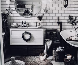 bathroom, decor, and mirror image