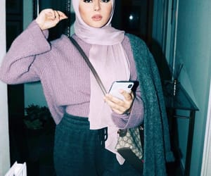 fashion, outfit, and hijab image