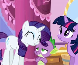 gif, my little pony, and spike image