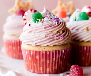 Pink sugar plum fairy cupcakes
