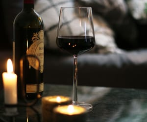 candles, cozy, and wine image
