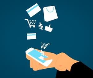 mobile app development and e-commerce business image