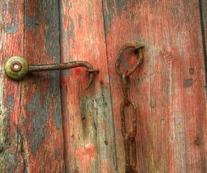 aesthetic, peach, and door image