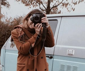 autumn, camera, and girl image