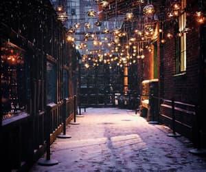 snow, light, and christmas image