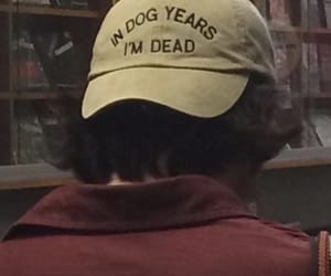 90s, cap, and dog image