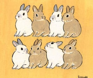 aesthetic, art, and bunnies image